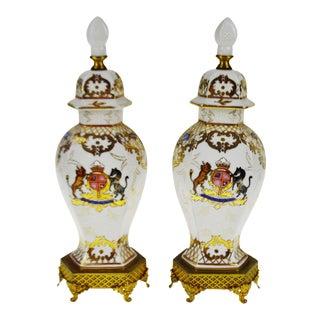 Vintage Ginger Jar Style Lamp Bodies - a Pair