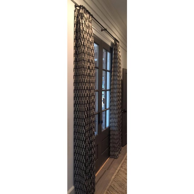 Custom Clay McLaurin Drapery Panels - A Pair - Image 2 of 3