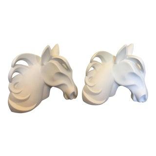Jaru Abstract Horse Head Sculpture - A Pair