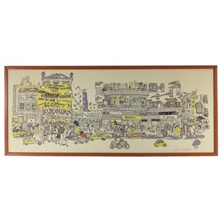 """1971 Red Grooms """"Discount Store"""" Signed Print"""