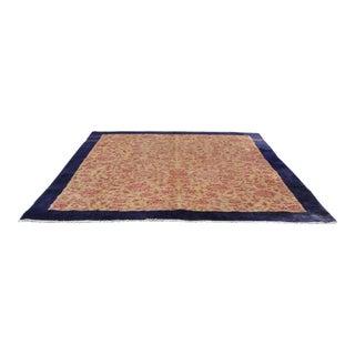 Vintage Turkish Kilim Rug Carpet 9′9″ × 11′7″