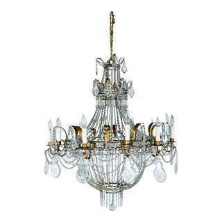 Vintage Regency Twelve Light Chandelier