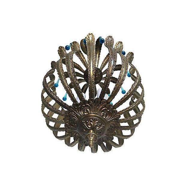 1960s Brass Acanthus Lantern - Image 5 of 6