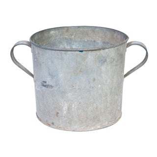 Vintage Galvanized Pot