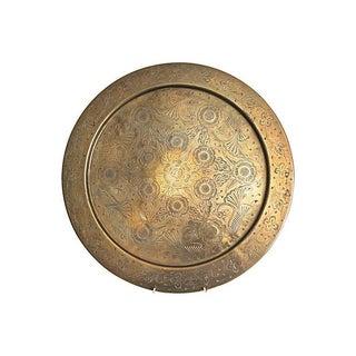 Etched Round Brass Tray