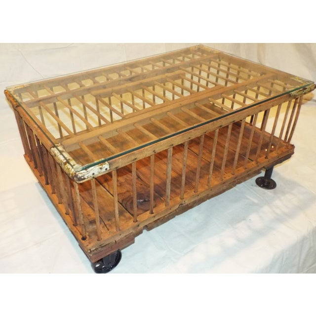 Vintage Chicken Crate Coffee Table Chairish