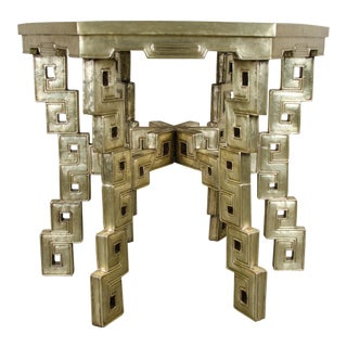 Hexagonal Table - Brass