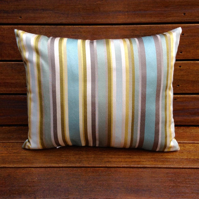 Multicolored Striped Pillow - Image 2 of 3