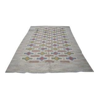 Judith Johansson Swedish Rolakan Kilim Carpet- 6′10″ × 9′11″