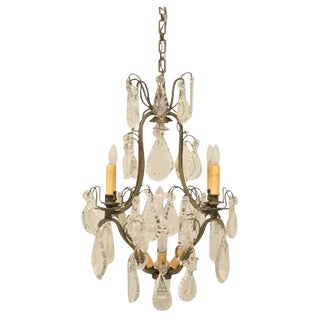 C.1920 French Crystal 9 Light Chandelier