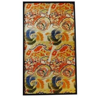 Japanese Framed Panel of Embroidered Silk