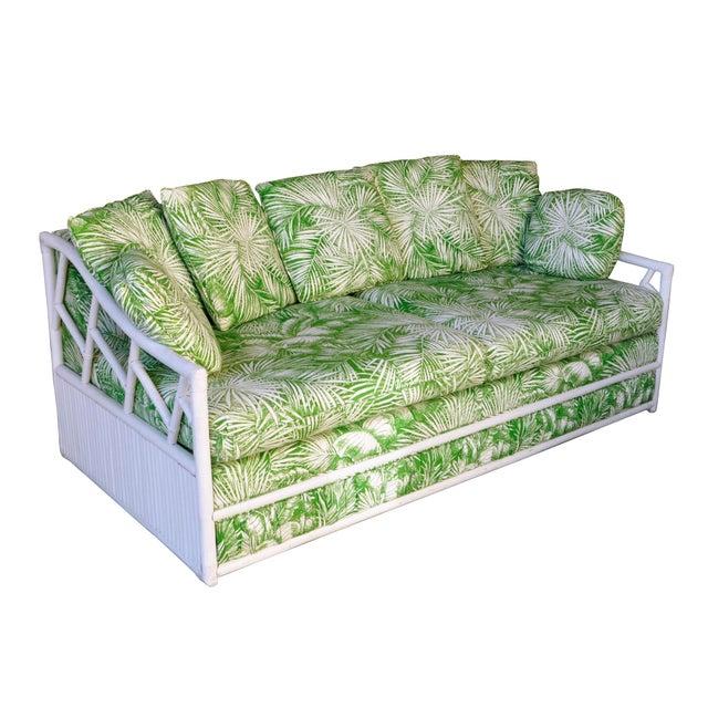 Ficks Reed Vintage Palm Leaf Sofa - Image 2 of 5