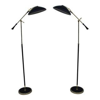 1950's Lightolier Adjustable Floor Lamps - Pair