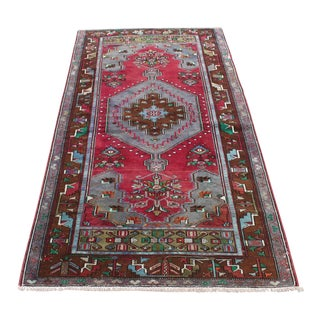 Vintage Anatolian Decorative Faded Rug - 3′7″ × 6′9″