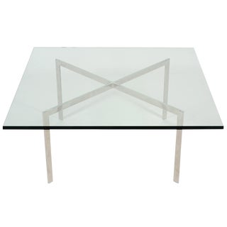 Ludwig Mies Van Der Rohe Stainless Steel Barcelona Table by Knoll