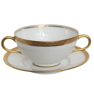 Old Abbey Limoges Soup Bowl & Saucer