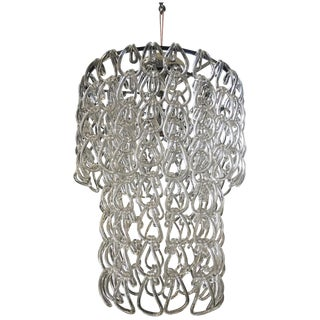 Giogali-Style Glass Rope Knot Chandelier