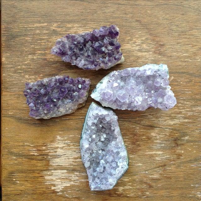 Natural Amethyst Rock Crystals - Set of 4 - Image 7 of 8