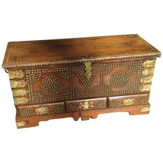 Antique Anglo-Indian Dowry Chest