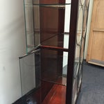 Image of Mid-Century Modern Glass & Wood Shelf