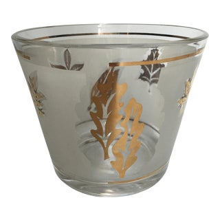 Libbey Golden Foliage Glass Ice Bucket