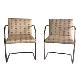 Brno Tubular Chrome Chairs for Knoll - A Pair