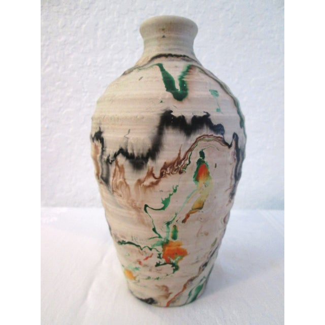 Nemadji Swirl Pottery Vessels - Pair - Image 4 of 11