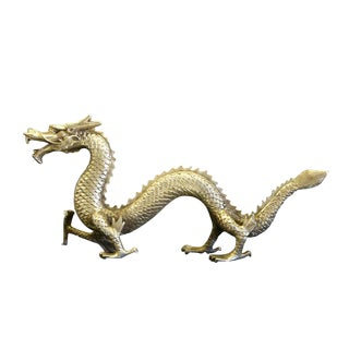 Chinese Handmade Silver Dragon Fengshui Figure
