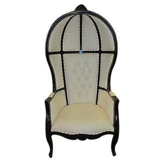 Leather High-Back Canopy Chair