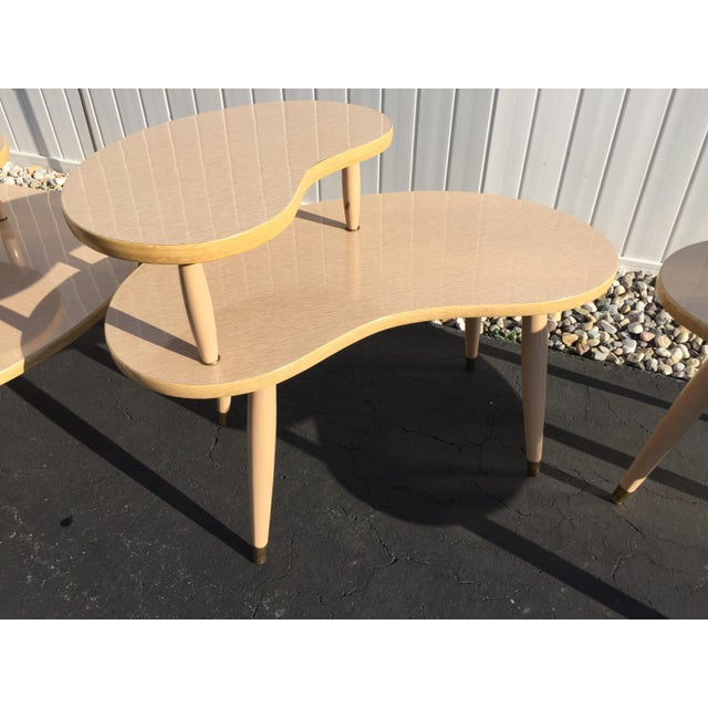 Mid Century Coffee Table And End Tables: Mid-Century Kidney End Tables And Coffee Table