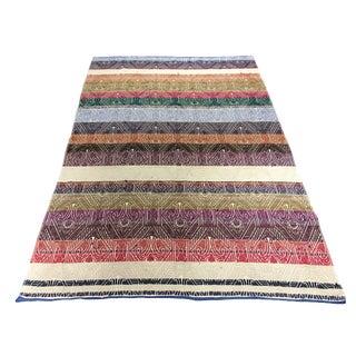 Turkish Flat-Weave Kilim Rug - 4′8″ × 7′