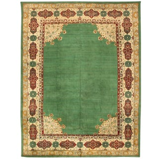 Extremely Finely Woven Antique 19th Century Indian Agra Carpet