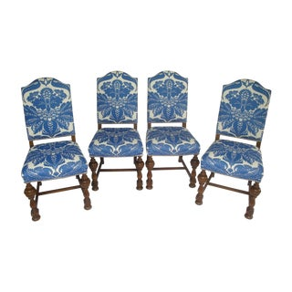 Custom Stroheim Upholstered Dining Chairs - 4