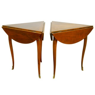 Baker Louis XV-Style Drop Leaf Tables - A Pair