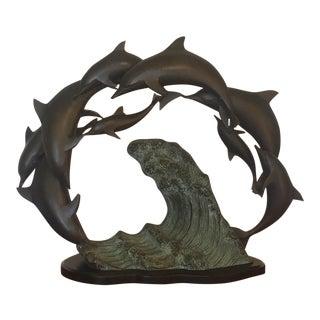 Bronze & Resin Dolphin Sculpture