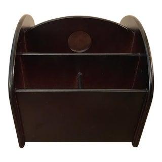 Vintage Black Spinning Desk Organizer