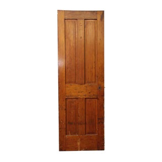 Antique Single Four Panel Wood Farm House Door