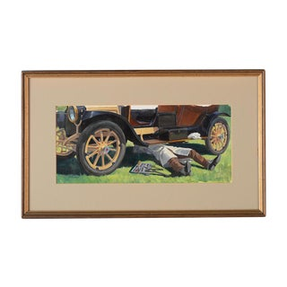 "Robert Levin ""1930s Roadster"" Oil Painting"