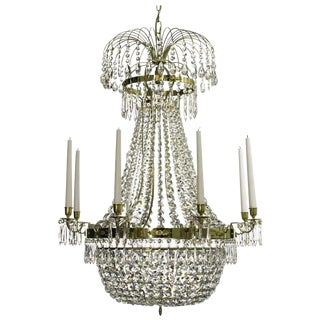 Empire 8 Polished Brass Octagon Chandelier