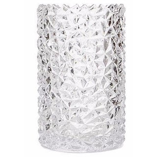 Textured Clear Glass Vase