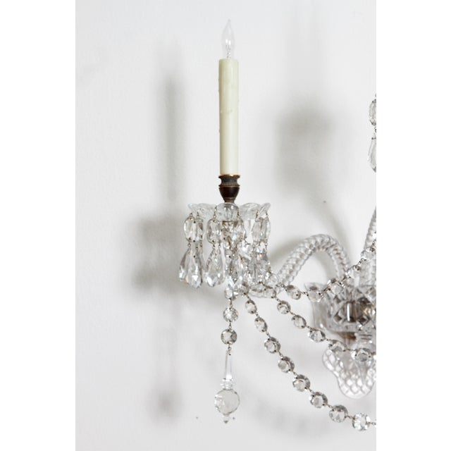 Two Pair of Exceptional F. & C. Osler Crystal Sconces - Image 7 of 11