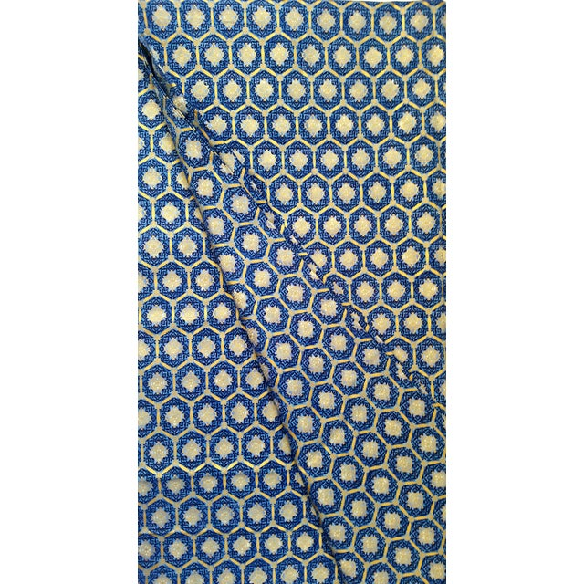 Image of Robert Kaufman Blue Gold Imperial Fabric - 3.5 Yds