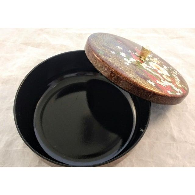 Japanese Mid Century Melamine Decorative Box - Image 4 of 5