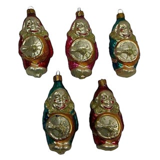 German Clown Christmas Ornaments - Set of 5