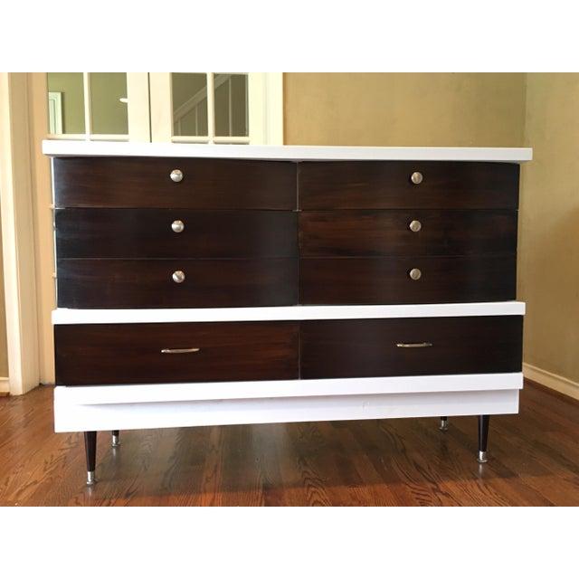 Two-Tone Mid-Century Modern Dresser - Image 2 of 5