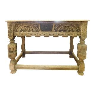 Antique Bleached Oak Cabinet