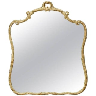 Italian Rococo Style Painted Gilt wood Foliate Mirror