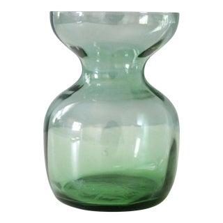 Vintage Kastrup Holmegaard Hyacinth Vase Green Glass Scandinavian