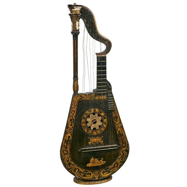 19th Century Edward Light Harp Lute - Image 1 of 7