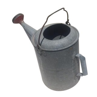 Vintage Country Galvanized Zinc Watering Can